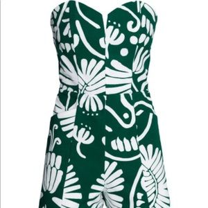 H&M Strapless Floral Print Romper/Playsuit
